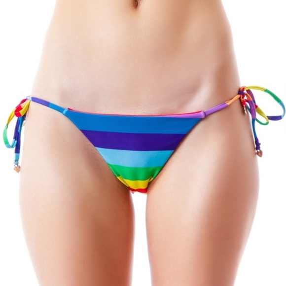 a26e51356cd6f Wildfox Swim | Reversible 70s Rainbow String Bikini | Poshmark